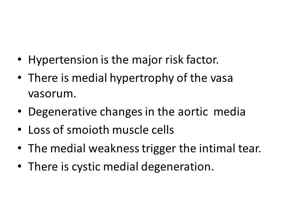 Hypertension is the major risk factor.
