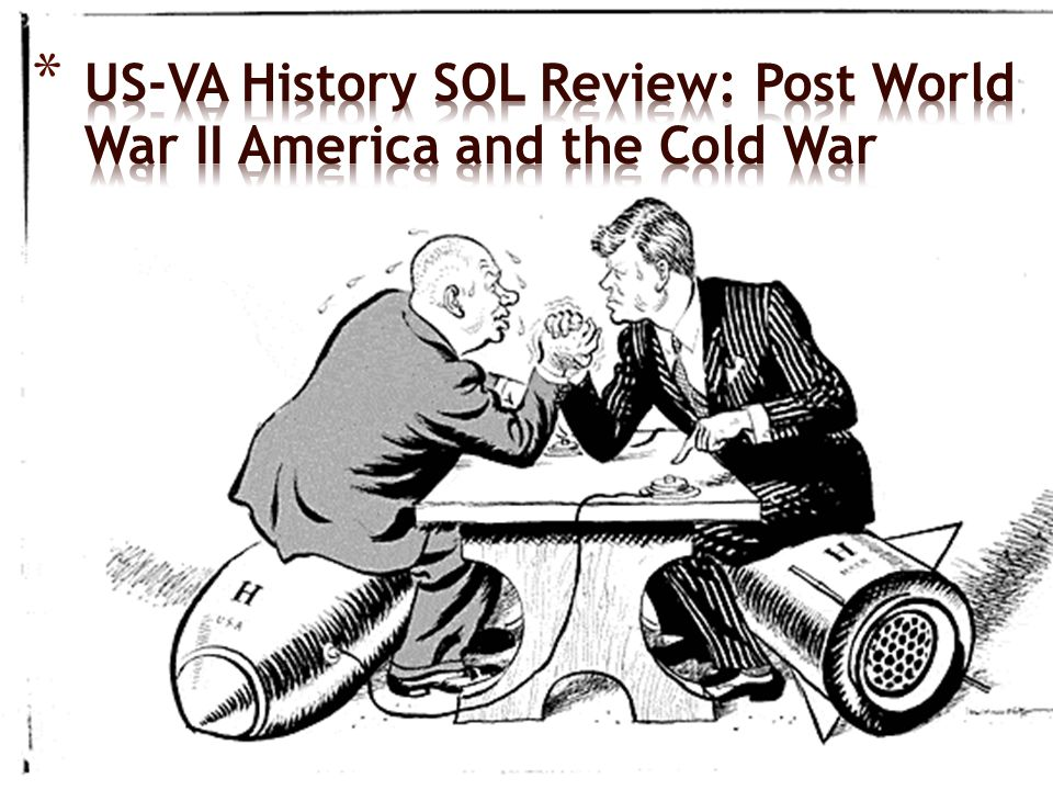 US-VA History SOL Review: Post World War II America and the Cold War