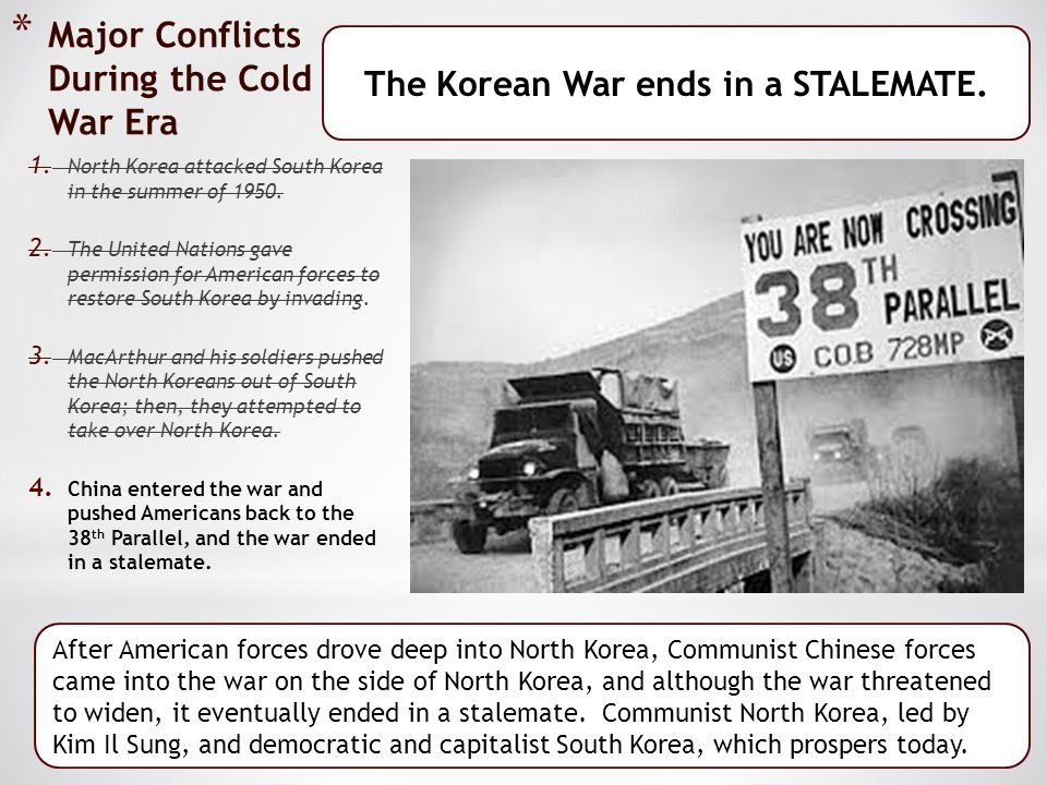 Major Conflicts During the Cold War Era