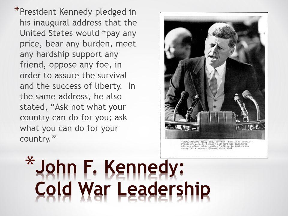 John F. Kennedy: Cold War Leadership