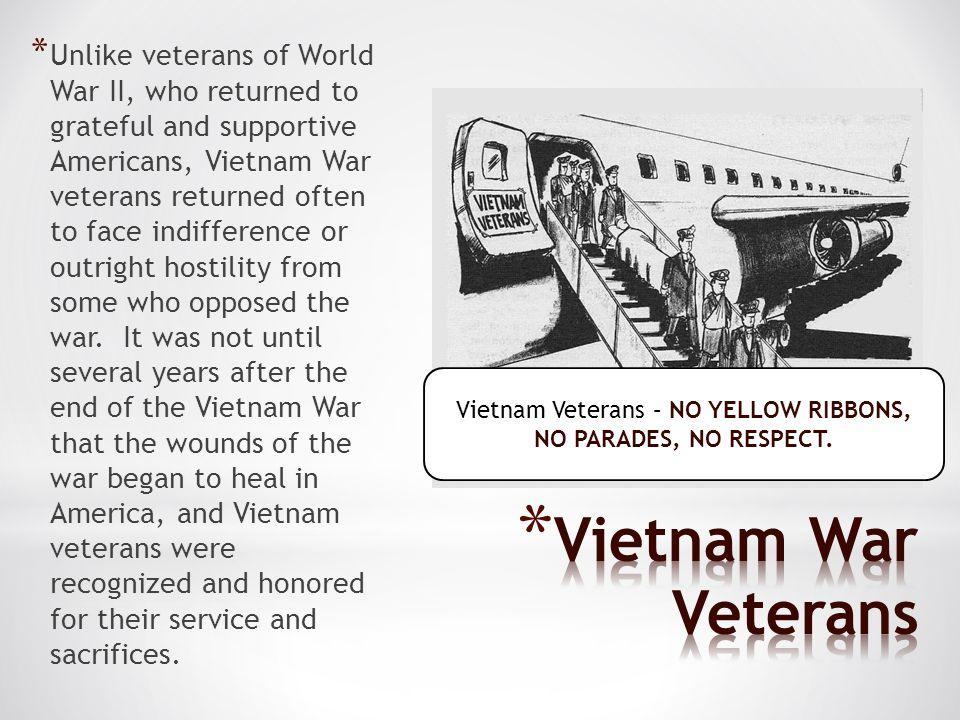 Vietnam Veterans – NO YELLOW RIBBONS, NO PARADES, NO RESPECT.