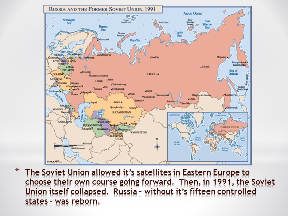 The Soviet Union allowed it's satellites in Eastern Europe to choose their own course going forward.