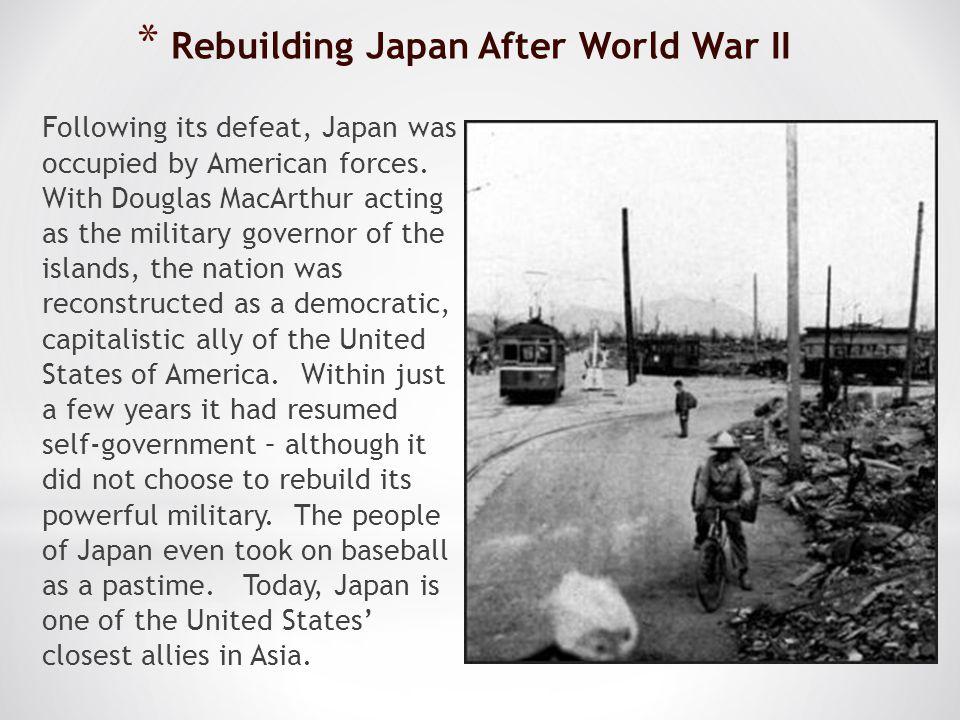 Rebuilding Japan After World War II
