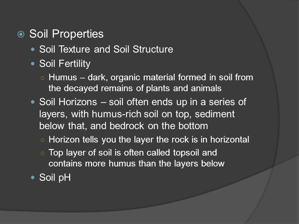 Soil Properties Soil Texture and Soil Structure Soil Fertility