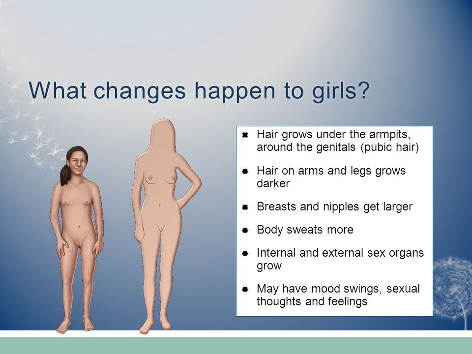 What changes happen to girls