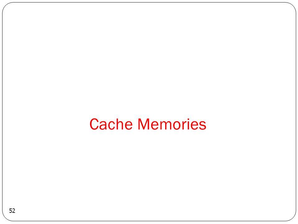 Cache Memories