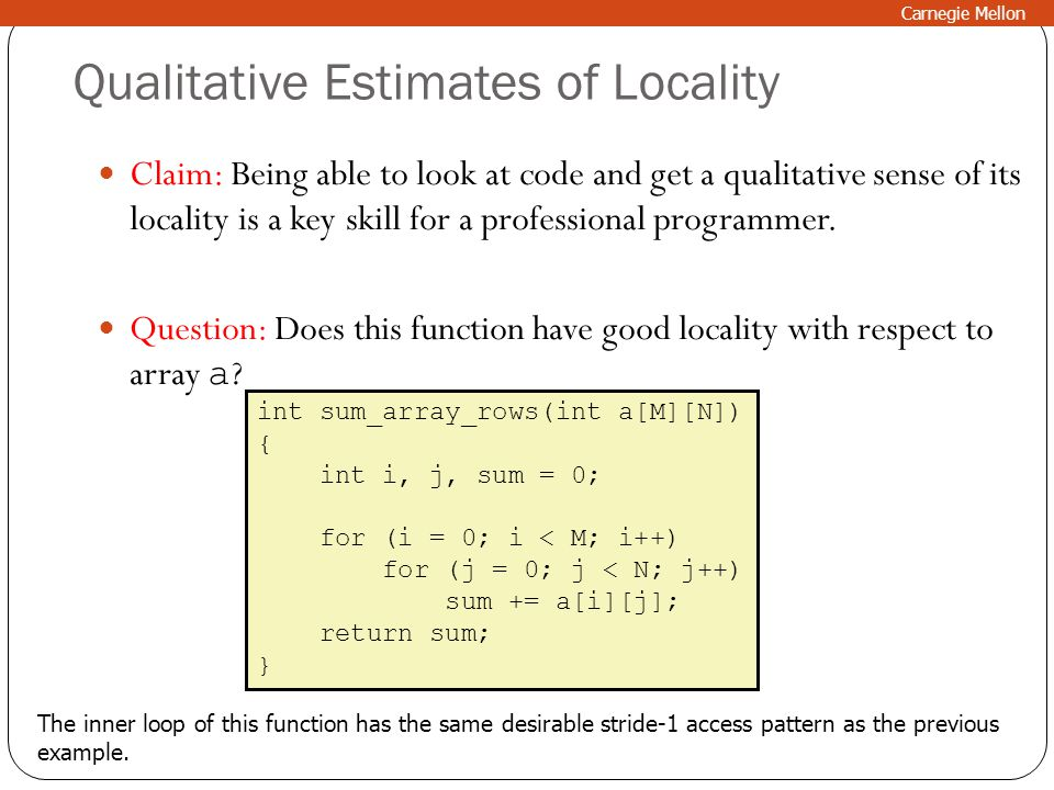 Qualitative Estimates of Locality