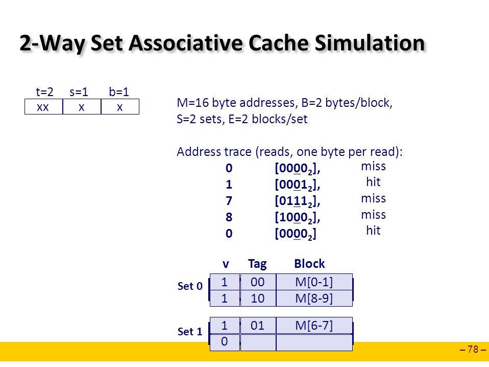 2-Way Set Associative Cache Simulation