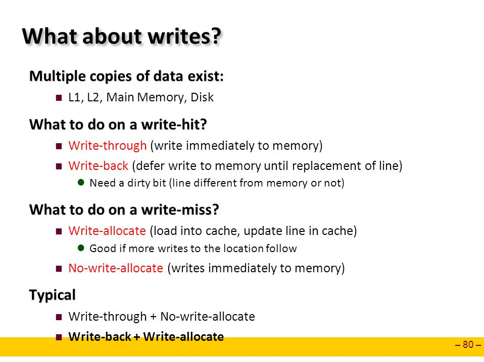 What about writes Multiple copies of data exist: