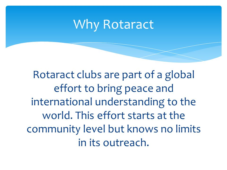 Why Rotaract