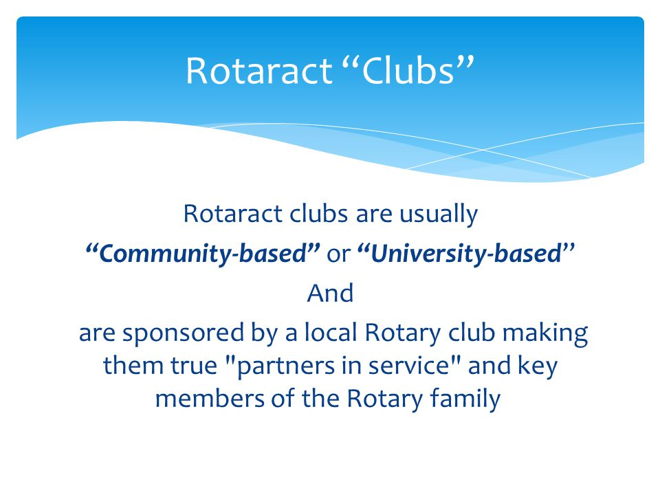 Rotaract Clubs