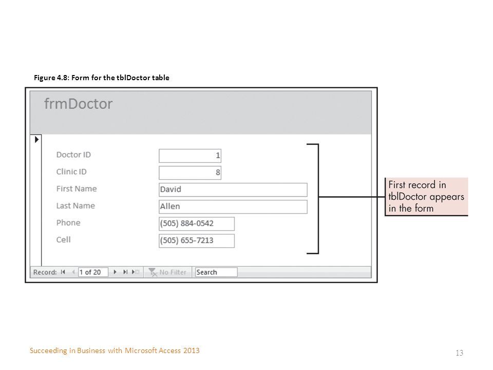 Figure 4.8: Form for the tblDoctor table