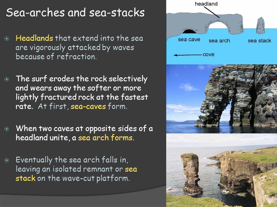 Sea-arches and sea-stacks