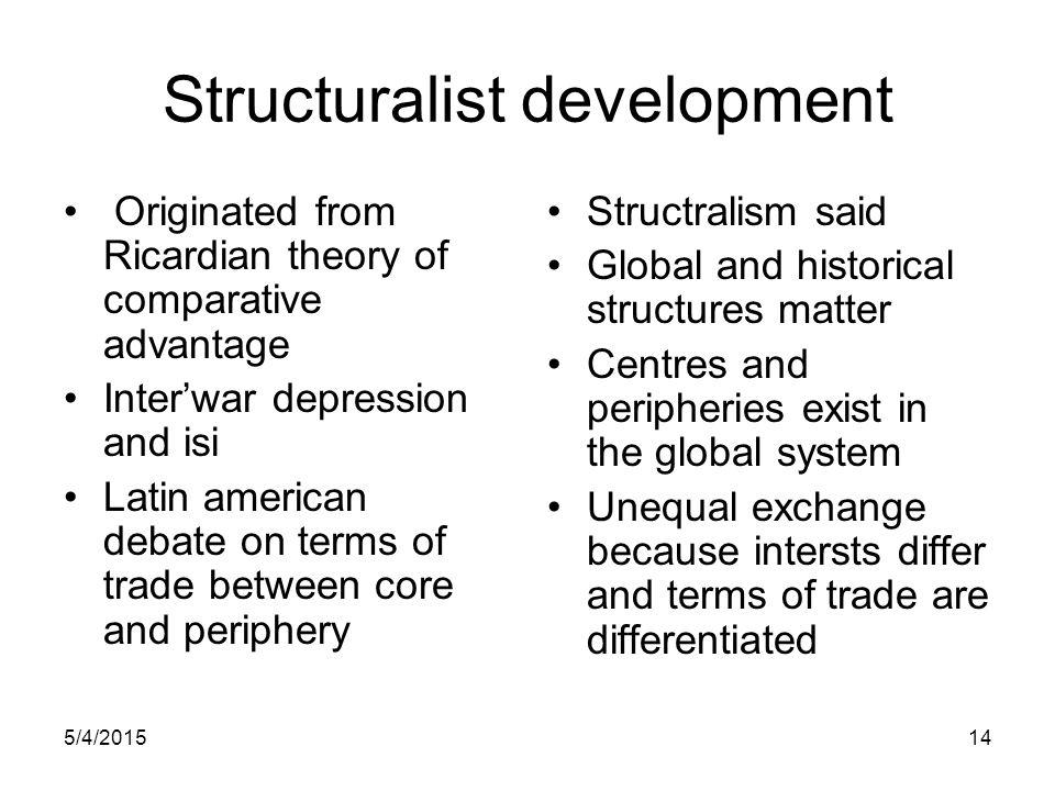 Structuralist development