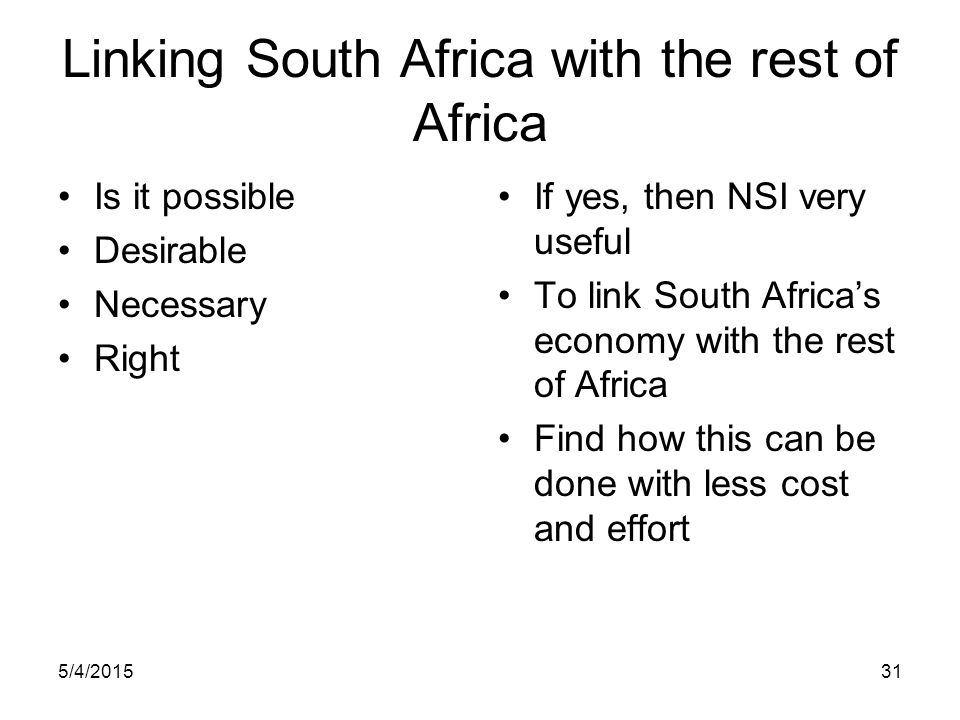 Linking South Africa with the rest of Africa