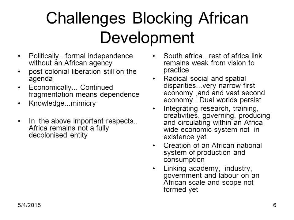 Challenges Blocking African Development