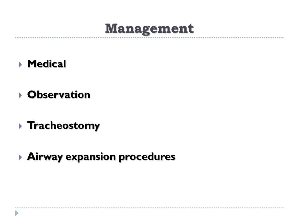 Management Medical Observation Tracheostomy