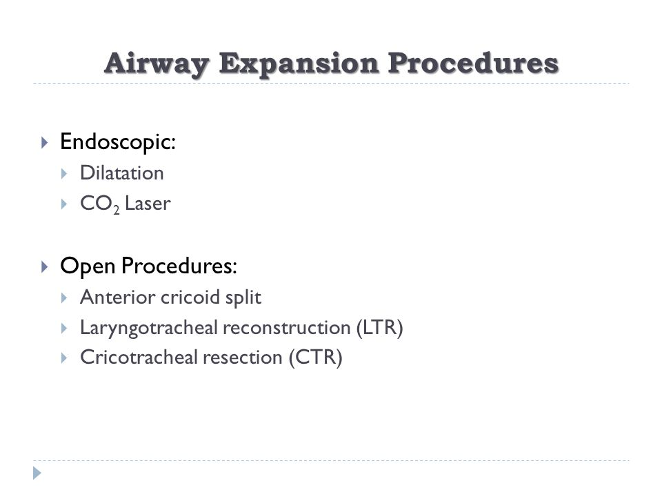 Airway Expansion Procedures