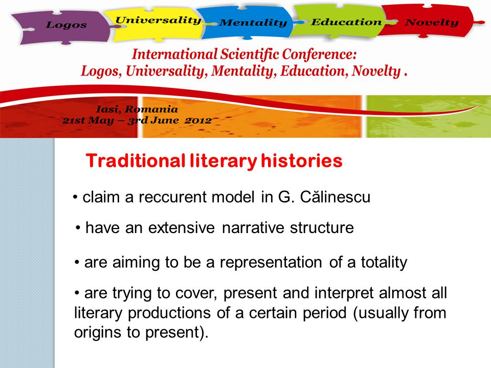 Traditional literary histories