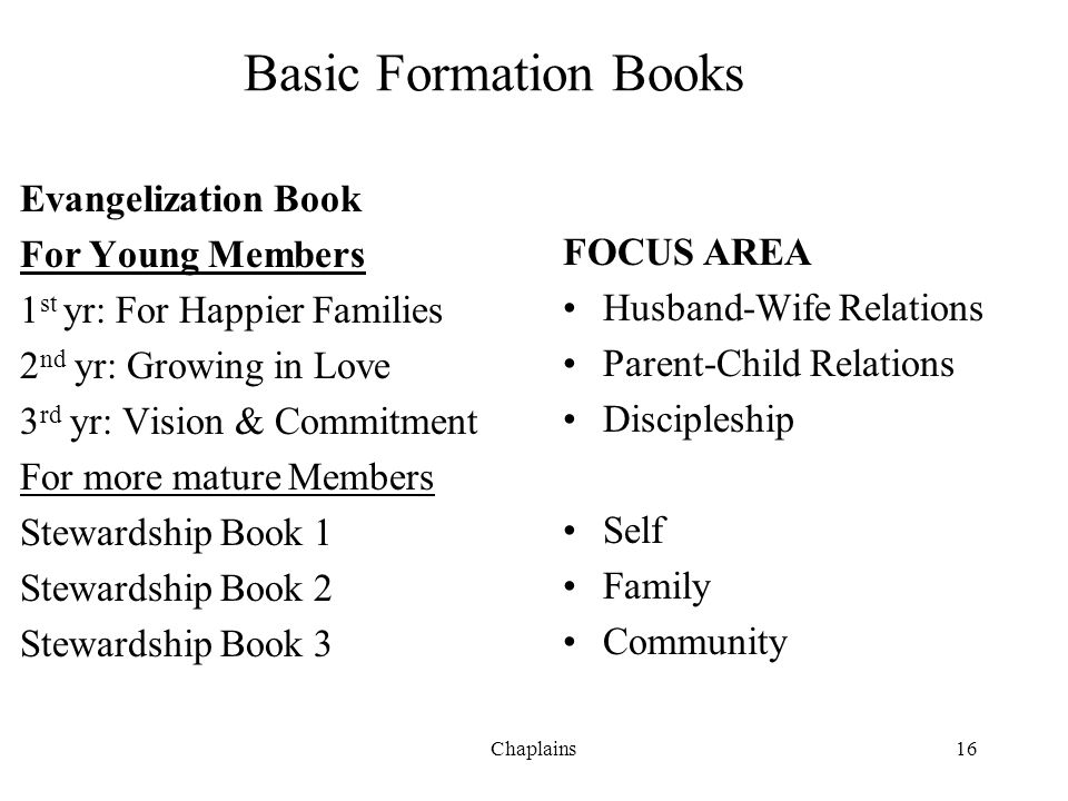 Basic Formation Books Evangelization Book For Young Members