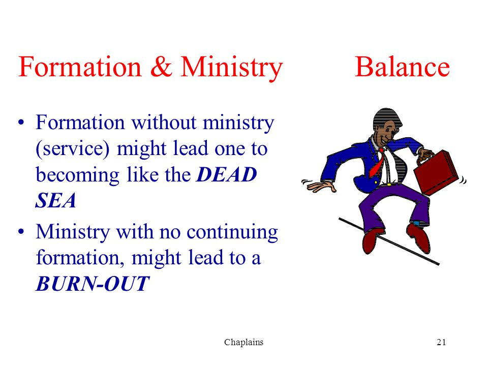 Formation & Ministry Balance