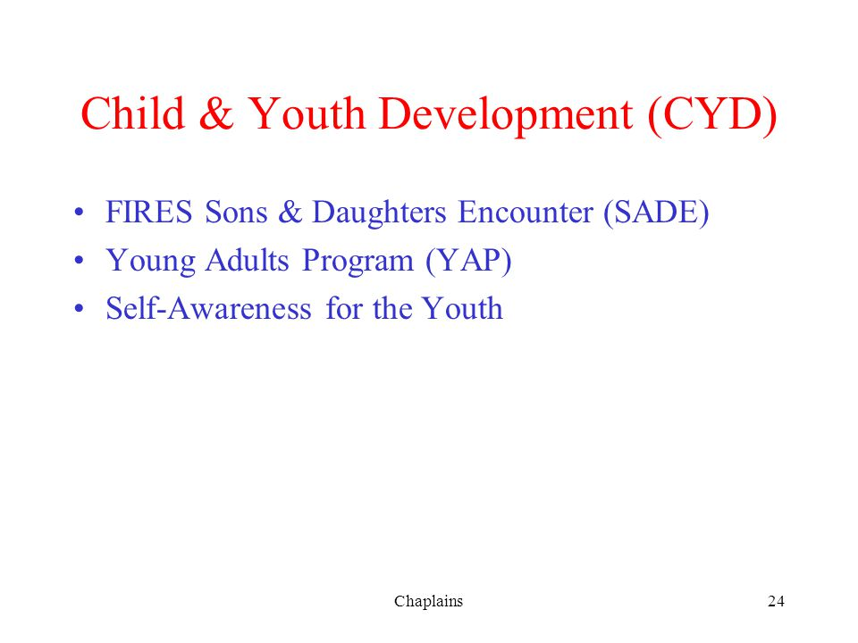 Child & Youth Development (CYD)