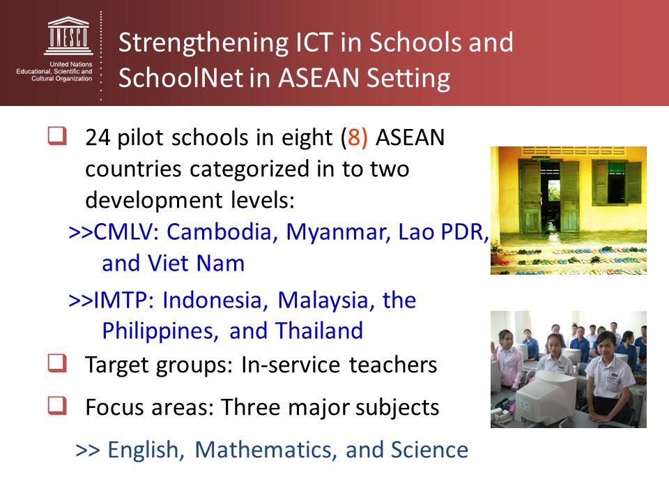 Strengthening ICT in Schools and SchoolNet in ASEAN Setting