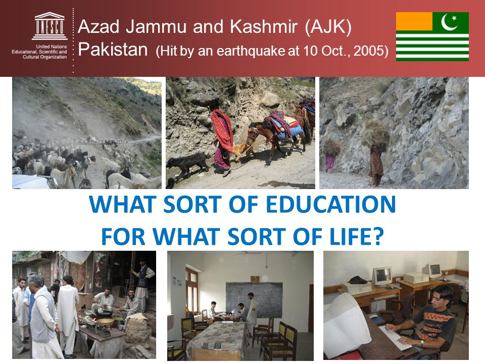 what sort of education for what SORT of life