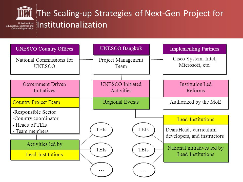 The Scaling-up Strategies of Next-Gen Project for Institutionalization