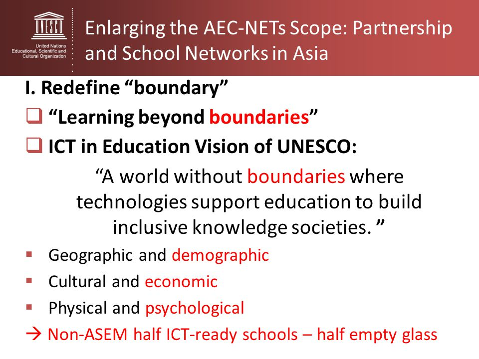 Enlarging the AEC-NETs Scope: Partnership and School Networks in Asia