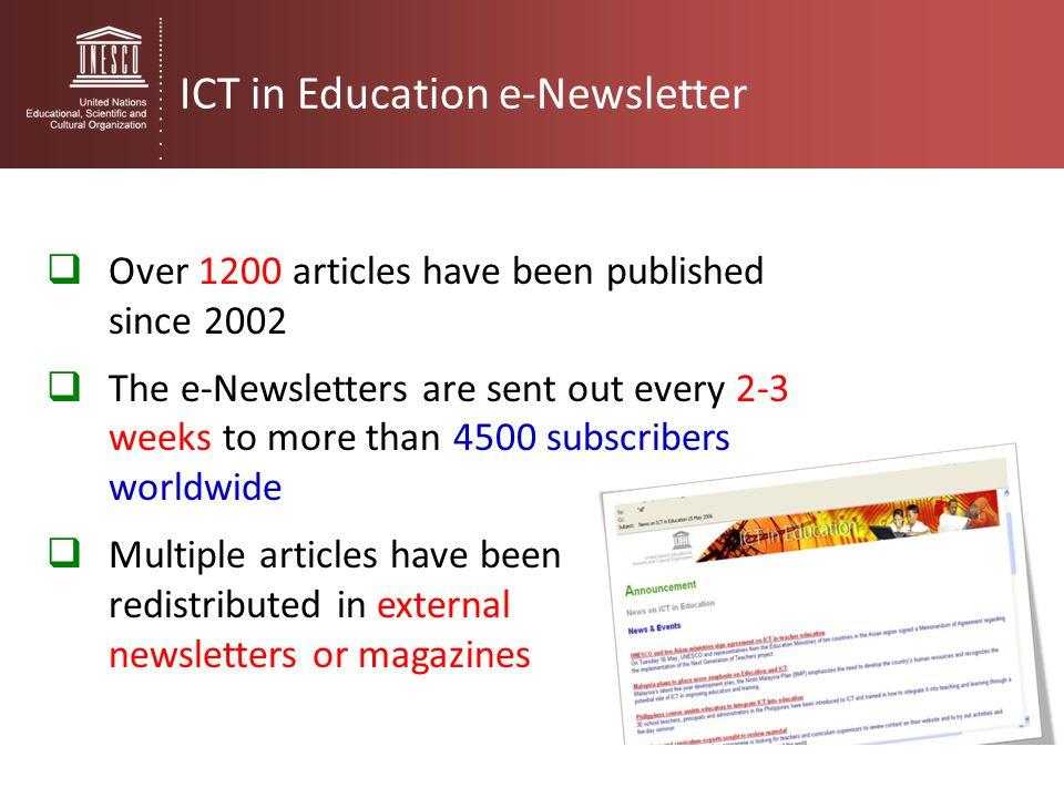 ICT in Education e-Newsletter