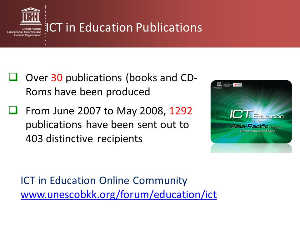 ICT in Education Publications