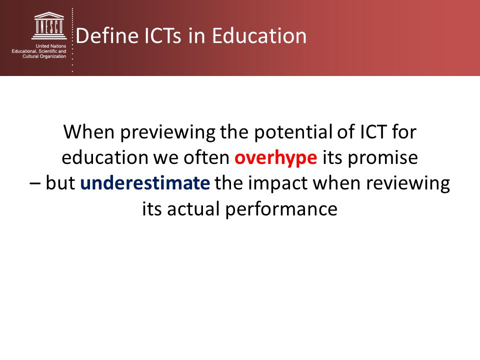 – but underestimate the impact when reviewing its actual performance