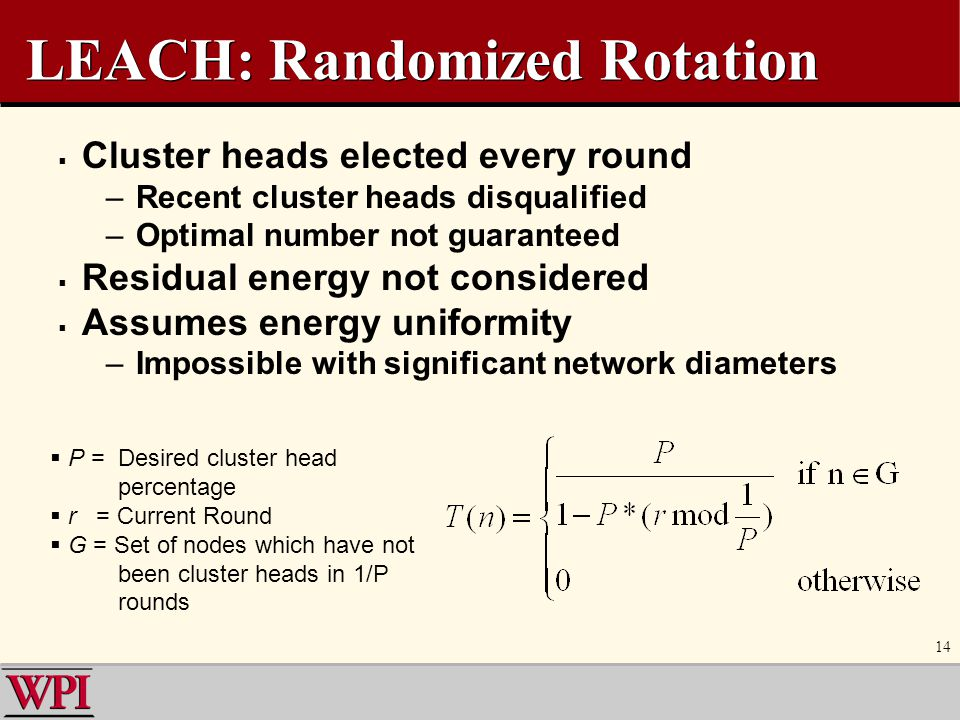 LEACH: Randomized Rotation