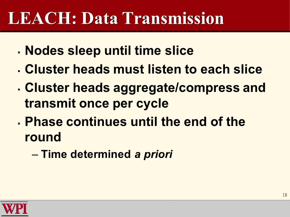 LEACH: Data Transmission