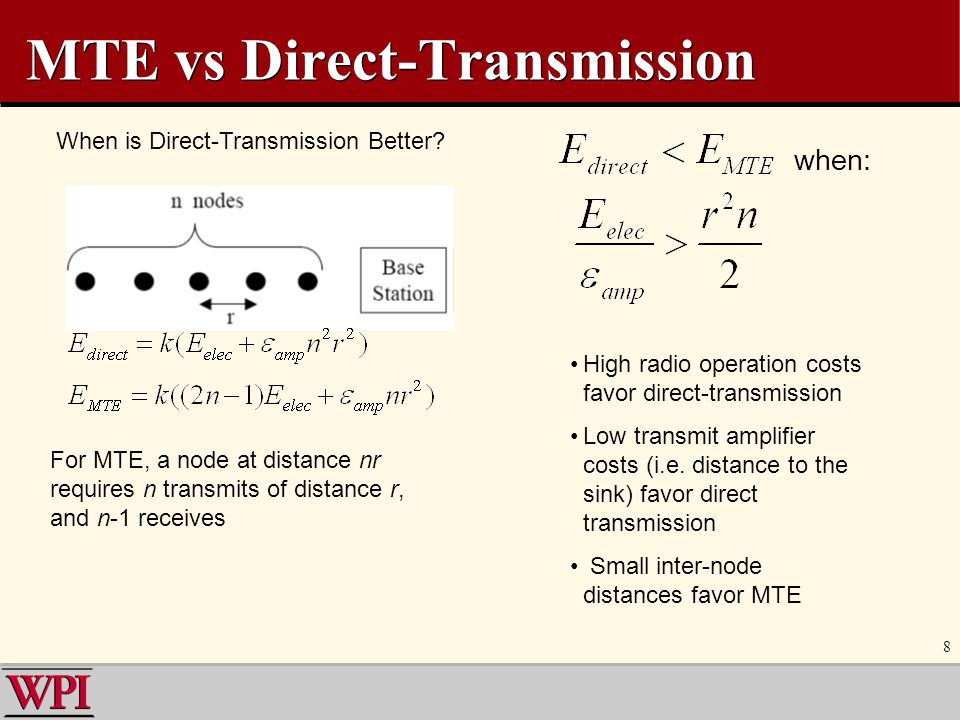 MTE vs Direct-Transmission