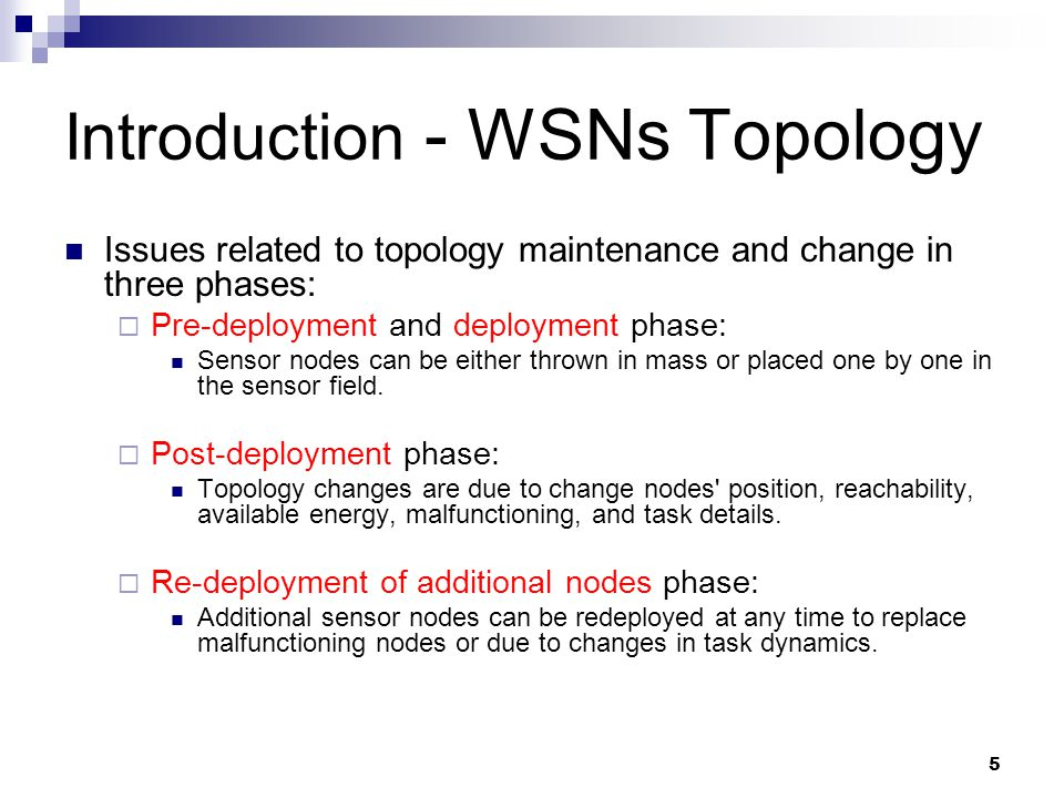 Introduction - WSNs Topology