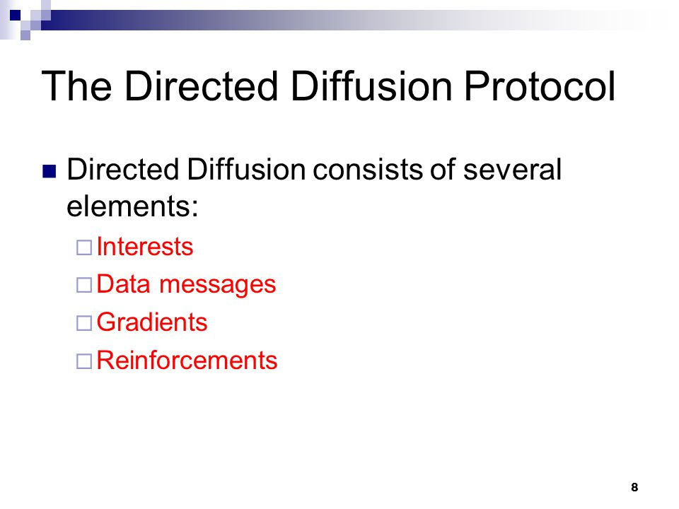 The Directed Diffusion Protocol