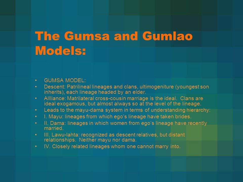 The Gumsa and Gumlao Models: