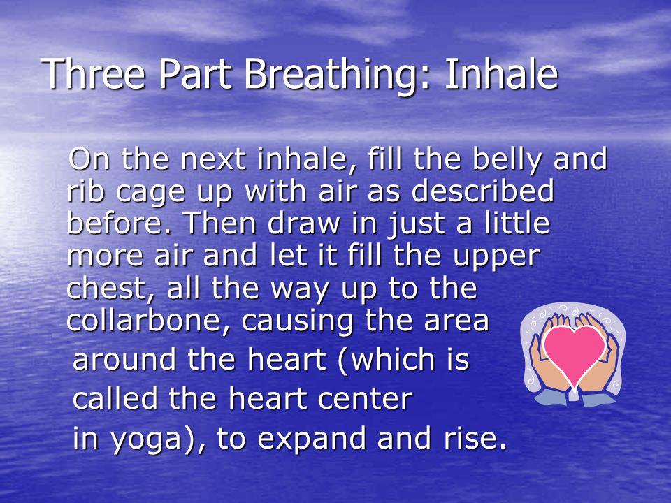 Three Part Breathing: Inhale