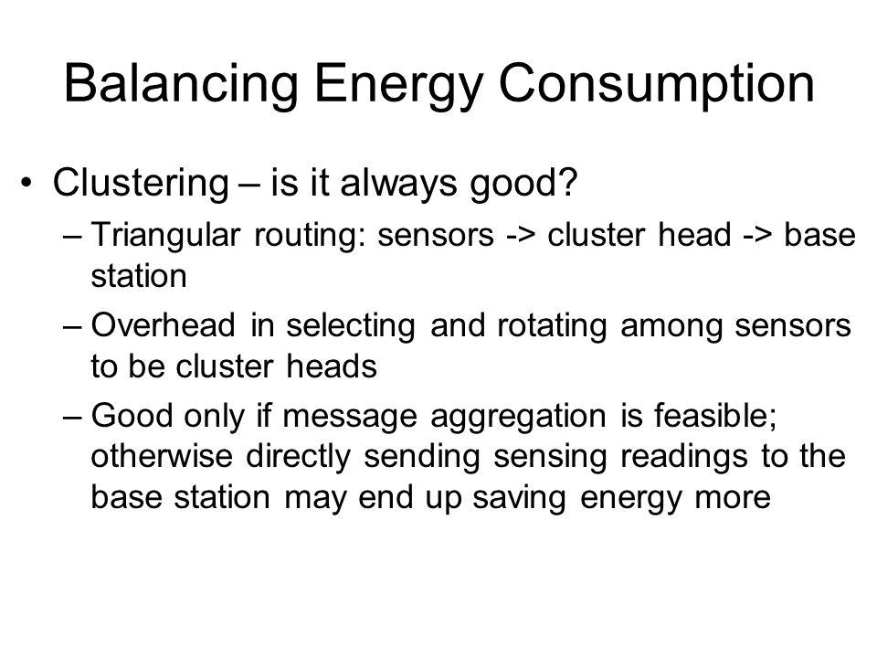 Balancing Energy Consumption