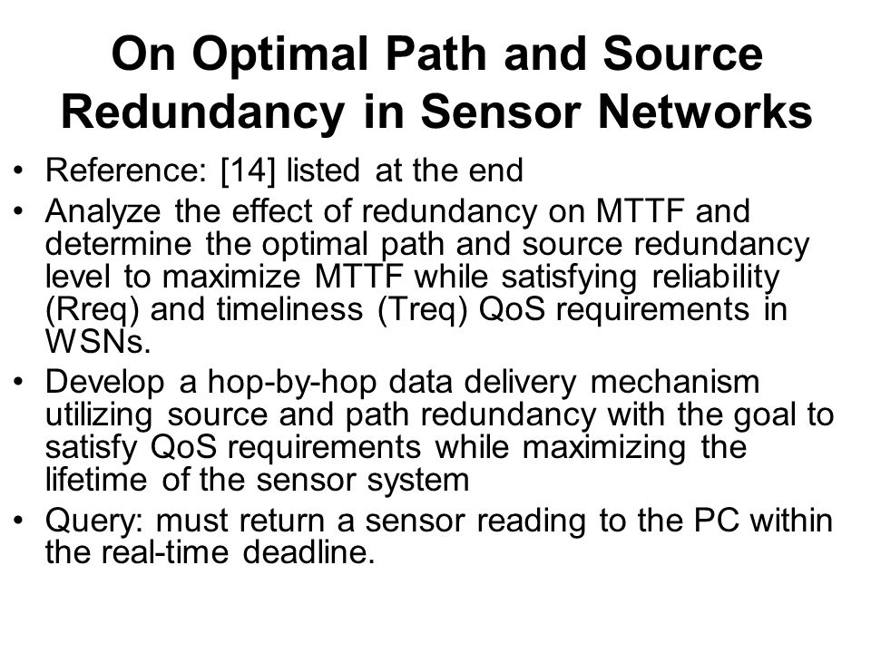 On Optimal Path and Source Redundancy in Sensor Networks