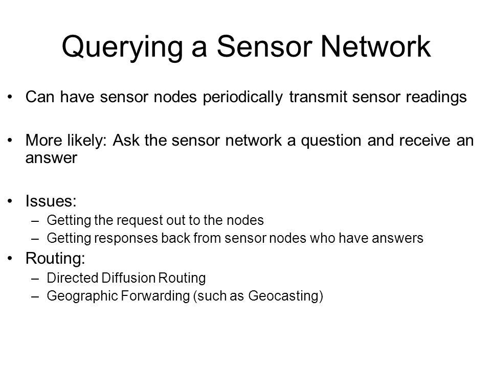 Querying a Sensor Network
