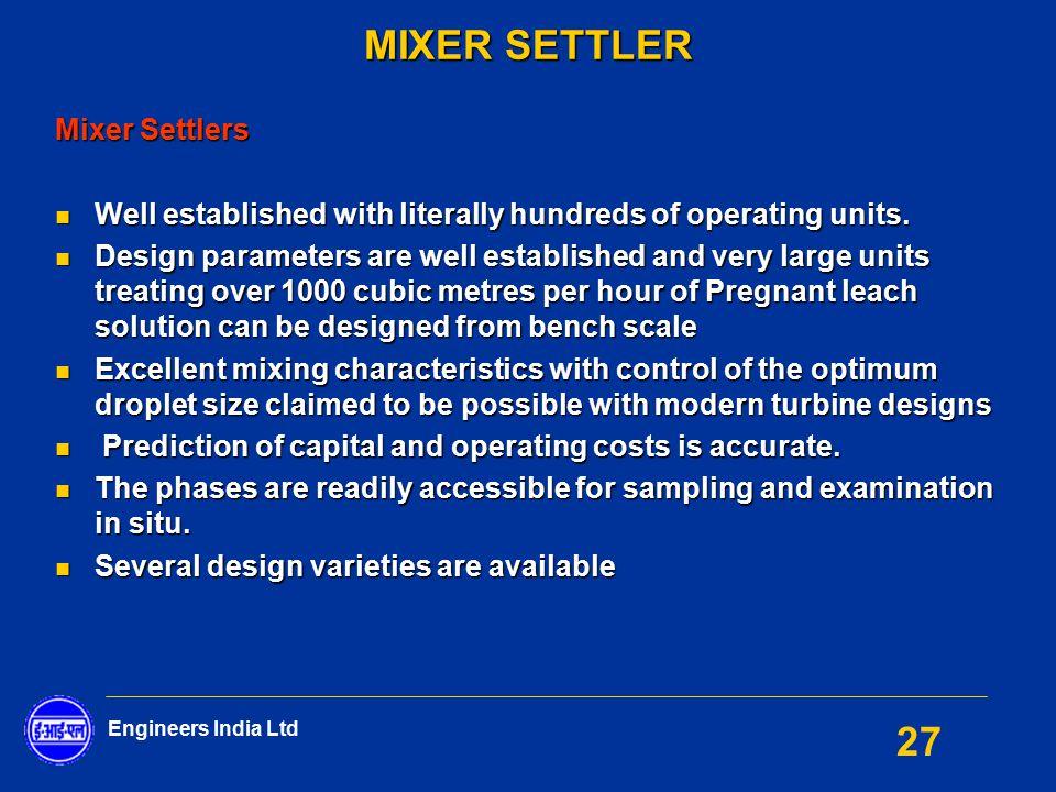 MIXER SETTLER Mixer Settlers