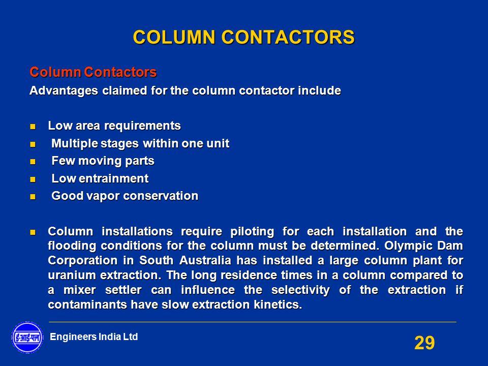 COLUMN CONTACTORS Column Contactors