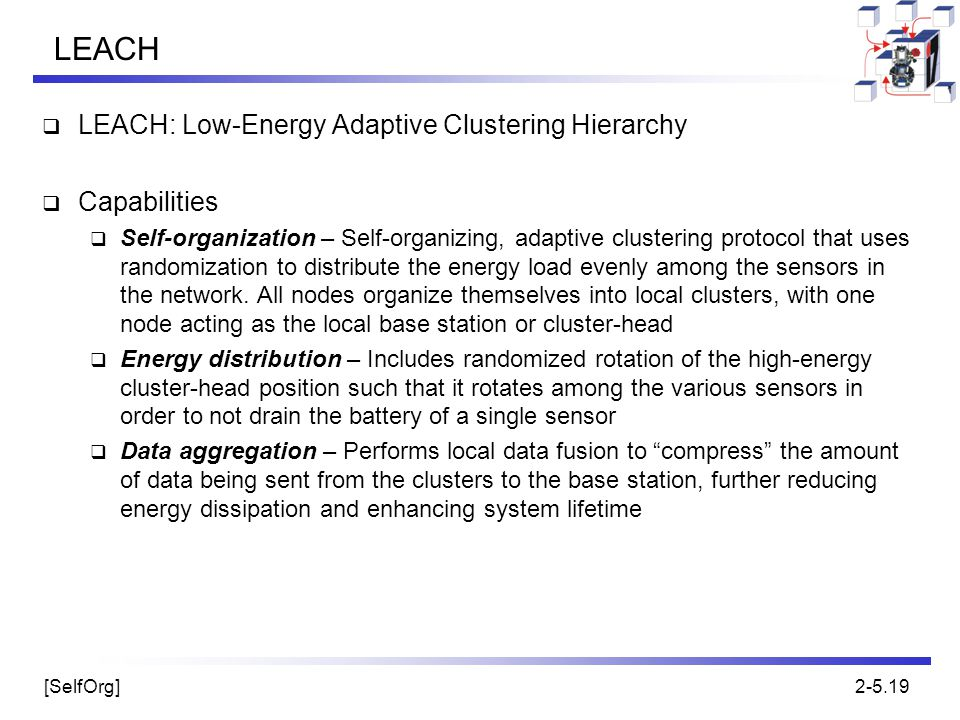 LEACH LEACH: Low-Energy Adaptive Clustering Hierarchy Capabilities