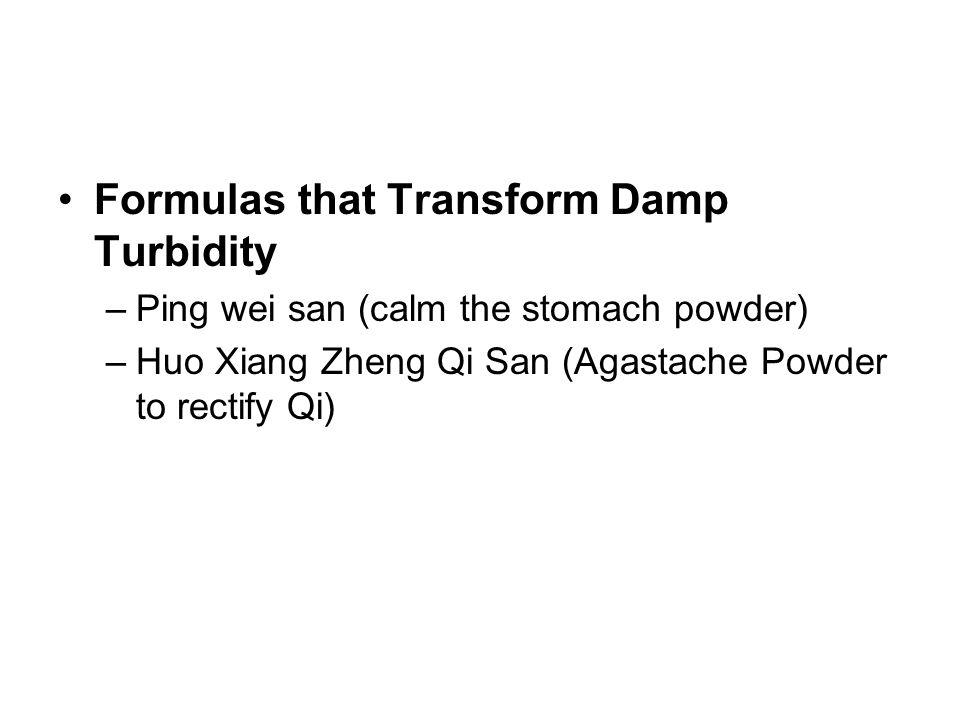 Formulas that Transform Damp Turbidity