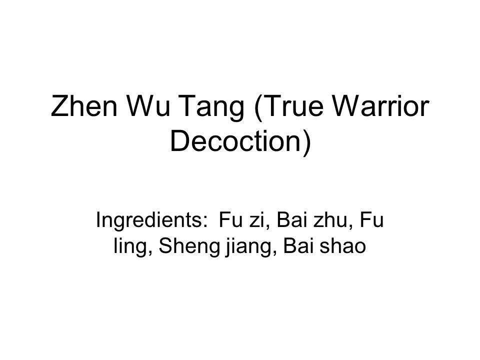 Zhen Wu Tang (True Warrior Decoction)