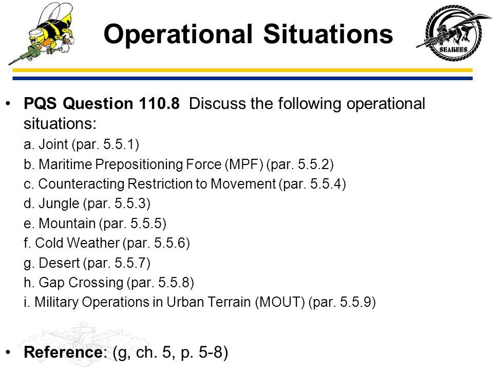 Operational Situations