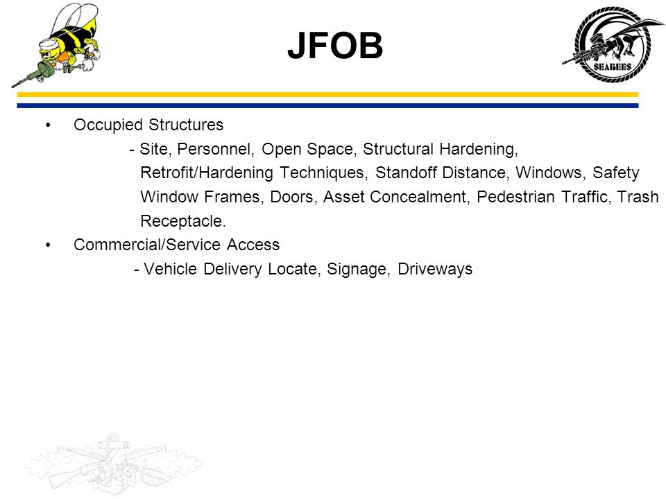 JFOB Occupied Structures